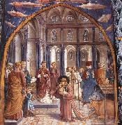 Scenes from the Life of St Francis (Scene 9, north wall) dh GOZZOLI, Benozzo
